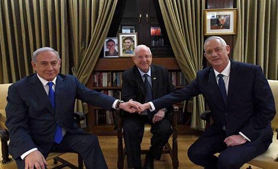 ثلاثة سيناريوهات للتناوب على حكومة إسرائيلية موحدة بين نتنياهو وغانتس