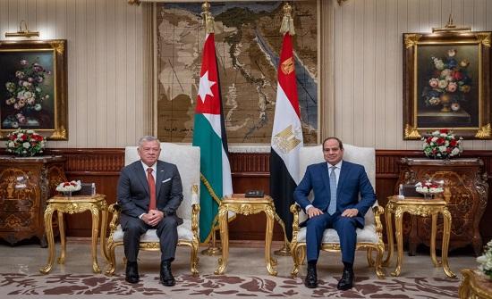 الملك والسيسي يبحثان العلاقات الثنائية والتطورات في المنطقة