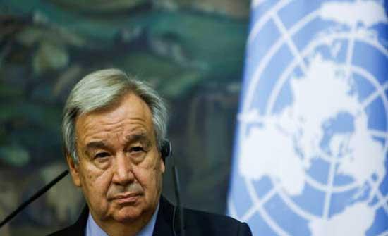 غوتيريش يبحث مع الأمين العام لجامعة الدول العربية قضايا المنطقـة