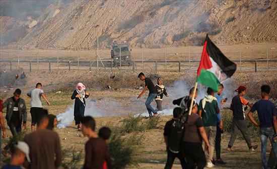 غزة.. ارتفاع مصابي الاعتداءات الإسرائيلية على مسيرات العودة لـ104