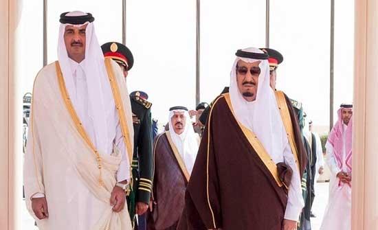 أمير دولة قطر يتلقى دعوة من الملك السعودي لزيارة المملكة