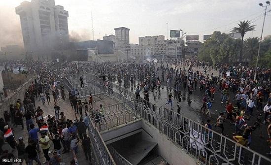بغداد.. إطلاق نار كثيف بساحة التحرير
