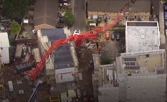 فيديو : سقوط رافعة في لندن