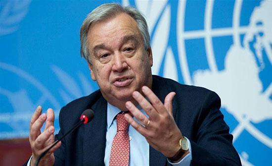 الأمين العام للأمم المتحدة يتعهد بدعم خطة سلام على أساس حدود ما قبل 67