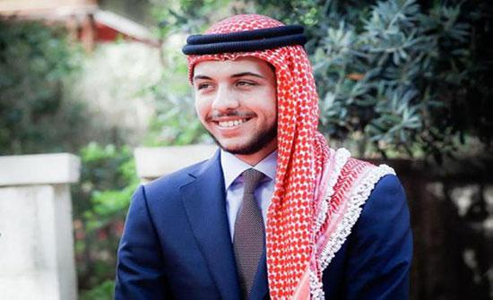 الامير الحسين بن عبدالله في دارة نذير الرشيد