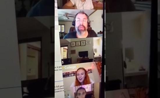 """كندا : """"مقلب افتراضي""""... تلميذ """"يرعب"""" أستاذه أثناء بث مباشر! (فيديو)"""