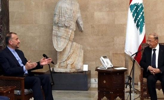 على وقع الاحتجاجات.. وزير خارجية إيران يلتقي الرئيس اللبناني
