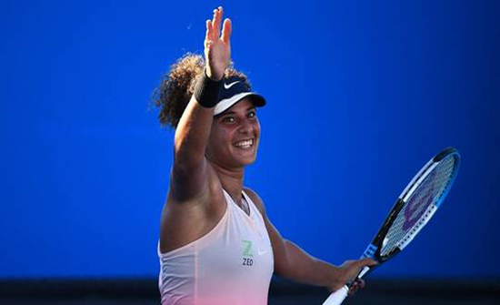 أول لاعبة كرة مضرب مصرية تفوز بمباراة في إحدى البطولات الأربع الكبرى