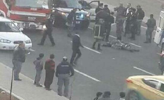 شاهدوا صور من حادثة انتحار فتاة من اعلى جسر عبدون بعمان