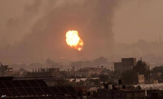 غزة: طائرات الاحتلال الاسرائيلي تقصف عدة مواقع