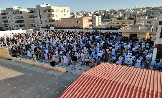 الاحداث الفلسطينية حاضرة في خطبة وصلاة العيد في مساجد اربد