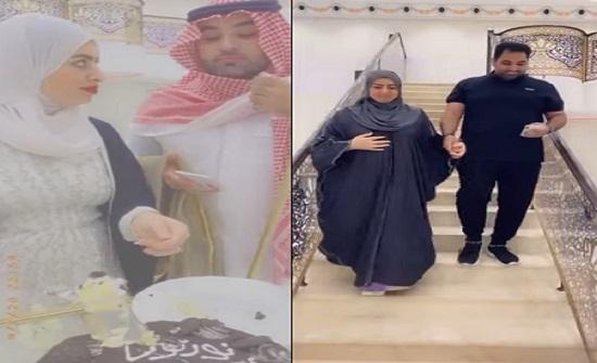 بالفيديو.. أميرة الناصر ومشعل الخالدي يحتفلان بعودتهما بحفل زفاف