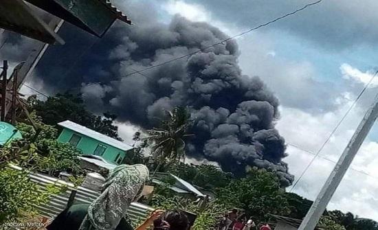 إنقاذ 40 شخصا من الطائرة الفلبينية المنكوبة