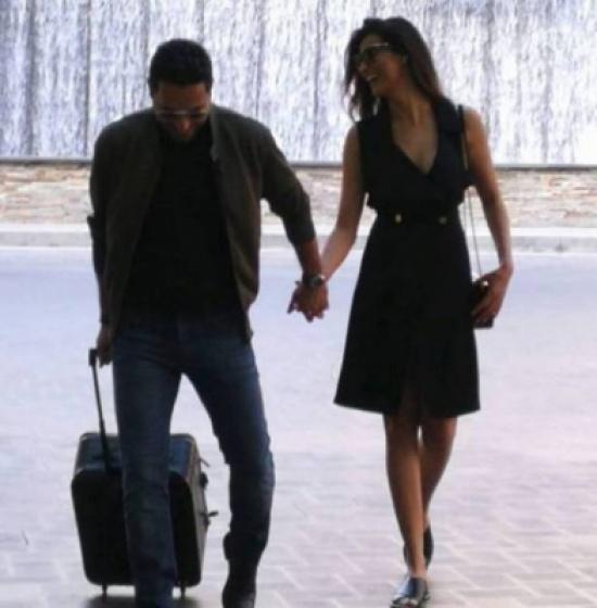 وسام بريدي وزوجته ريم السعيدي بلقطة حميمة بالصورة المدينة نيوز