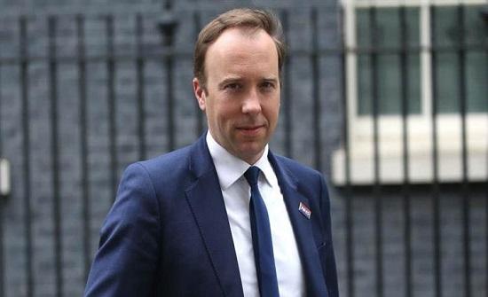 وزير الصحة البريطاني: سنوزع اختبارات تكشف فيروس كورونا خلال 90 دقيقة