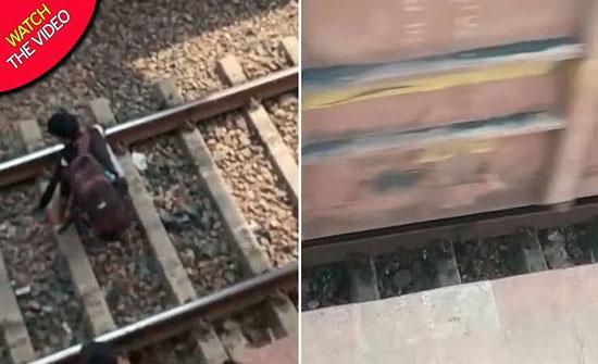بالفيديو: صبي هندي ينجو من الموت بأعجوبة بعد سقوطه تحت عجلات القطار