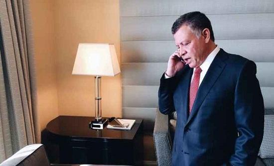 الملك يتلقى اتصالا من السيسي