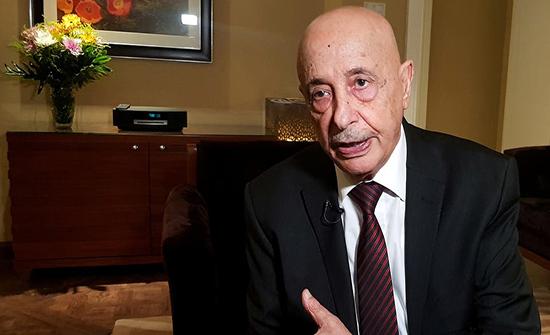 عقيلة صالح إلى القاهرة للقاء مسؤولين مصريين والسفير الأميركي