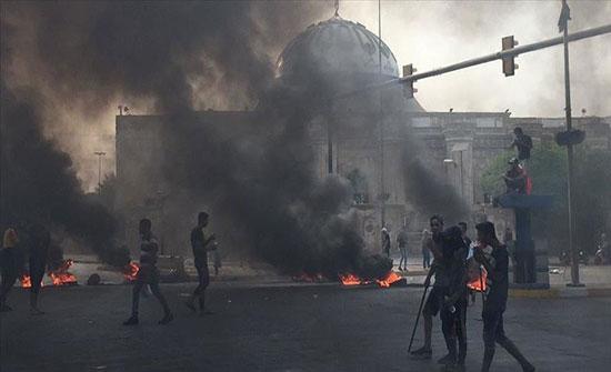 العراق.. إضرام النيران في مقار للأحزاب والحشد الشعبي بالناصرية