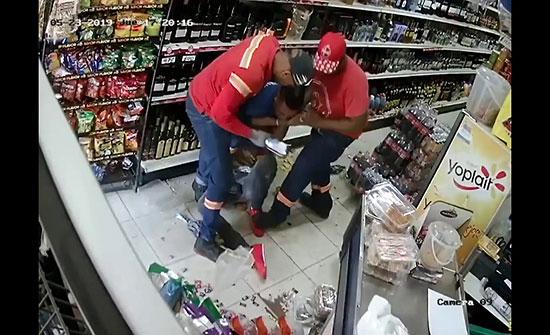 بالفيديو : حاول سرقة مجموعة من الاشخاص والنهاية مأساوية