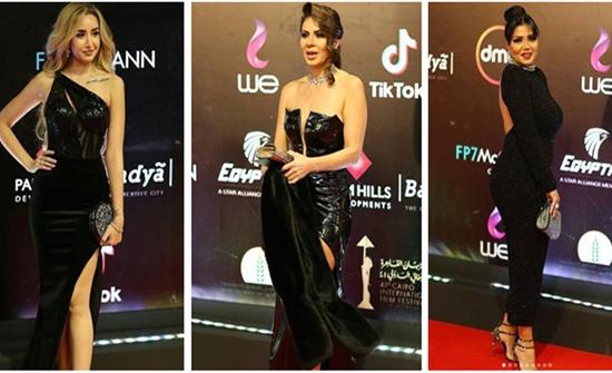شاهد : بالاسود رانيا يوسف وهنا الزاهد وإلهام شاهين يتألقن فى مهرجان القاهرة السينمائى
