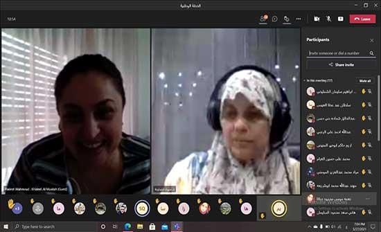 إربد الأهلية تعقد دورة تدريبية بالتعاون مع مركز دراسات المرأة في المجتمع في الجامعة الهاشمية عبر تطبيق زووم