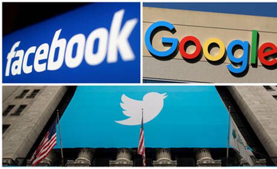 """رؤساء """"فيسبوك"""" و""""تويتر"""" و""""غوغل"""" سيمثلون أمام مجلس النواب الأمريكي في مارس"""