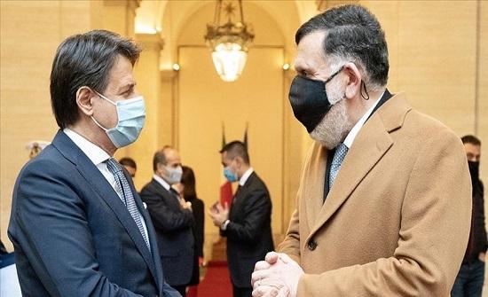 روما.. السراج وكونتي يبحثان مستجدات الأوضاع في ليبيا