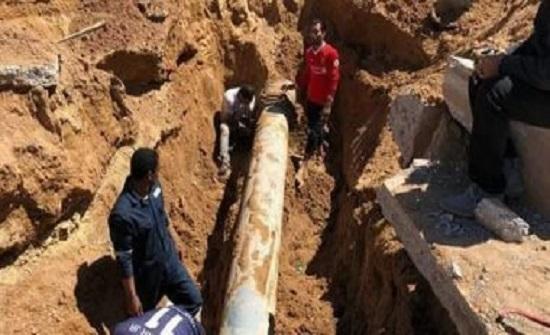 مياهنا تنفذ فجر غد الجمعة صيانة لخط مياه على شارع الشهيد مع شارع الكسائي