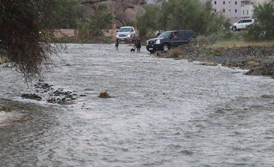 لليوم الثاني على التوالي.. سيول عارمة في الطائف إثر هطول الأمطار .. بالفيديو