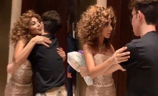 بالفيديو :  حفل ميريام فارس.. احتضنت معجباً وصُدمت!