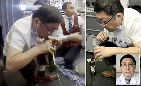 بالفيديو : أغرب ما استخدمه طبيب صيني لينقذ حياة راكب في الطائرة