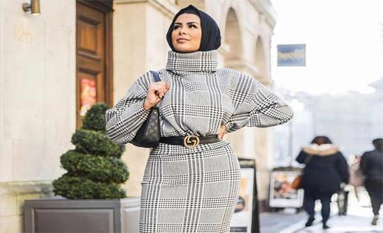 تنسيق الفساتين الشتوي للمحجبات