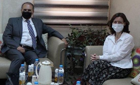"""العرموطي والسفيرة البريطانية يبحثان أثر """"كورونا"""" على حقوق الإنسان"""