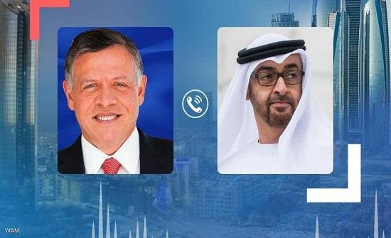 محمد بن زايد يؤكد للملك عبد الله تضامن الإمارات مع الأردن