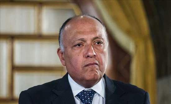شكري يبلغ المنفي دعم التسوية الليبية وصولا لانتخابات ديسمبر