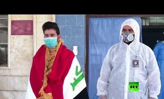 بالفيديو..شفاء حالة ثانية لمصاب بكورونا في كربلاء