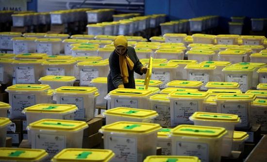 البادية الجنوبية تسجل اعلى نسب التصويت بنسبة 53.87% للآن