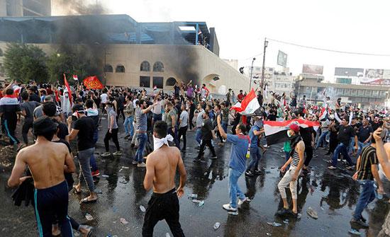 مفوضية حقوق الانسان تصف استهداف المتظاهرين ببغداد بالإرهاب
