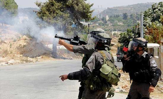 إصابة العشرات بقمع الاحتلال مسيرة منددة بالاستيطان جنوبي نابلس