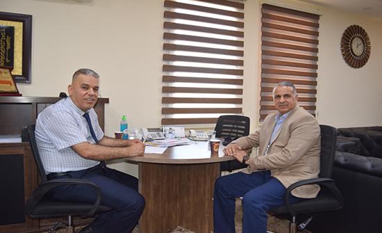 فاخر الحمداني يزور جامعة إربد الأهلية بهدف العمل والتعاون  المشترك