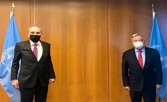الصفدي يبارك اعادة تعيين غوتيريش لامانة الامم المتحدة