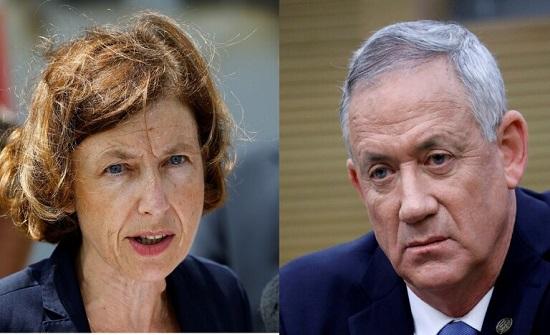 غانتس لوزيرة الدفاع الفرنسية: إسرائيل تأخذ الاتهامات ضد NSO على محمل الجد