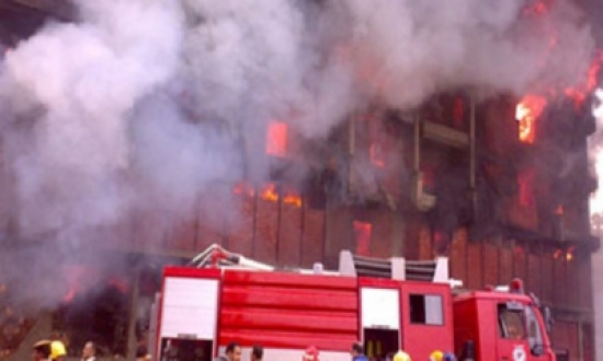 حريق ضخم في بغداد