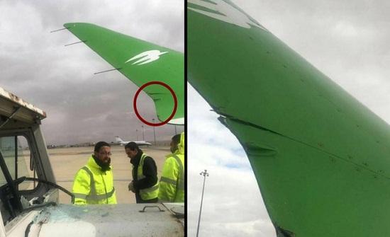 تضرر طائرة عراقية بحادث تصادم في مطار الملكة علياء بعمان