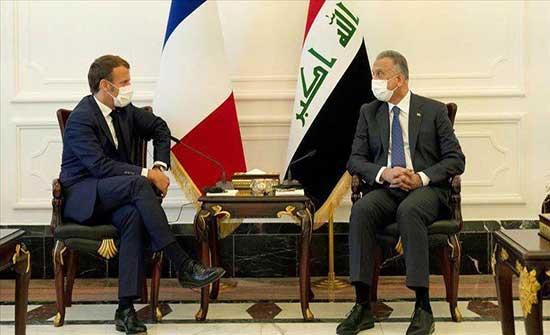 هاتفيا.. ماكرون يبحث مع الكاظمي تعزيز استثمارات فرنسا بالعراق