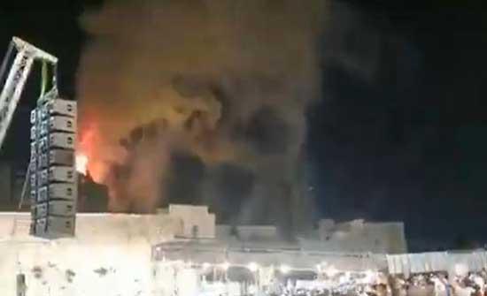 اندلاع حريق في باحات المسجد الأقصى .. بالفيديو