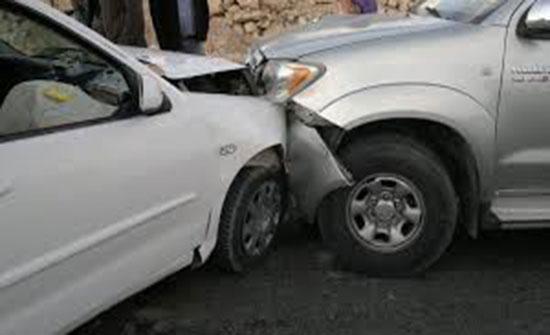 إصابة (8) أشخاص اثر حادث تصادم في محافظة العاصمة