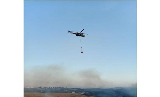 حريق اعشاب في اربد : طائرتان من سلاح الجو الملكي شاركت في إخماد الحريق