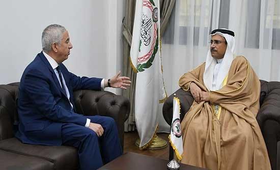 رئيس البرلمان العربي يستقبل رئيس برلمان البحر المتوسط